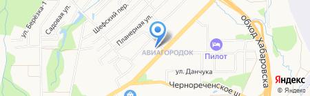 Дом ветеранов им. Н.М. Никитенко на карте Хабаровска