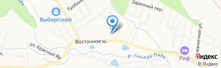 Школа-интернат для незрячих и слабовидящих детей №2 на карте Хабаровска