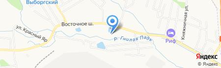 Подсолнухи на карте Хабаровска