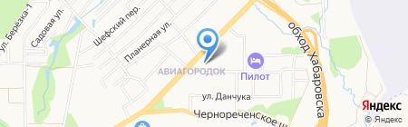 Эстелла на карте Хабаровска