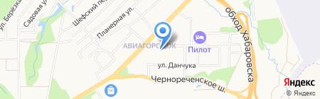 Хозяюшка на карте Хабаровска