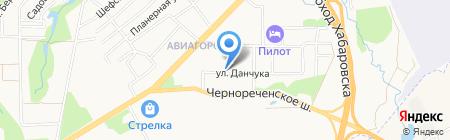 Продуктовый магазин на ул. Данчука на карте Хабаровска