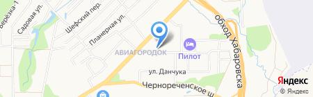 Данко на карте Хабаровска
