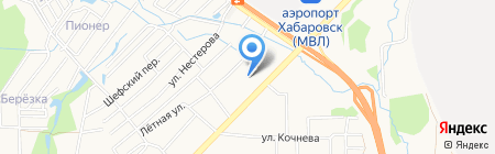Вилки-Палки на карте Хабаровска