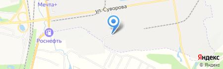 Автостоянка на ул. Суворова на карте Хабаровска