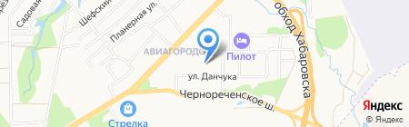 Аэробус на карте Хабаровска