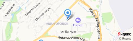 Детский сад №104 на карте Хабаровска