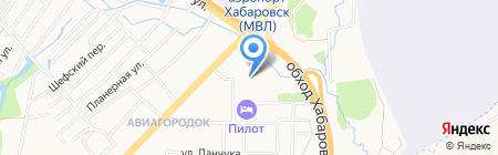 Венера на карте Хабаровска
