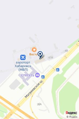 АЗС № 42 ТОРГОВАЯ КОМПАНИЯ ХАБАРОВСКНЕФТЕПРОДУКТ на карте Хабаровска