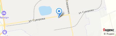 Техвик на карте Хабаровска