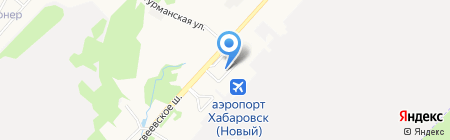 Кафетерий на карте Хабаровска