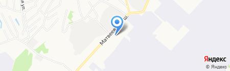 Шиномонтажная мастерская на Матвеевском шоссе на карте Хабаровска