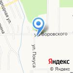 Городская поликлиника №8 на карте Хабаровска
