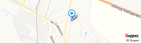 Стандарт-ДВ на карте Хабаровска