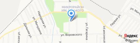 Заря на карте Хабаровска