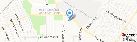 Семашко на карте Хабаровска