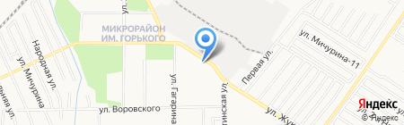 Автостоянка на ул. Жуковского на карте Хабаровска