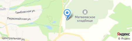 Матвеевское кладбище на карте Хабаровска