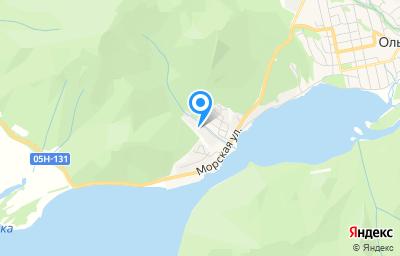 Местоположение на карте пункта техосмотра по адресу Приморский край, пгт Ольга, пер Базовый, д 13