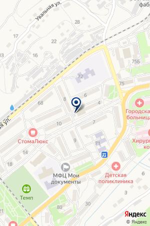 АПТЕКА ХХI ВЕК ПЛЮС на карте Дальнегорска
