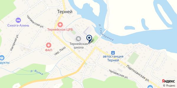 ФИЛИАЛ СЛУЖБА ЗАНЯТОСТИ НАСЕЛЕНИЯ РАЙОННАЯ ФЕДЕРАЛЬНАЯ на карте Тернее