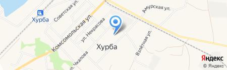 Администрация пос. Хурба на карте Хурбы