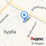 Лотос на карте Комсомольска-на-Амуре