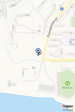 Автостоянка на Амурской на карте Амурска