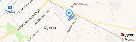 Коммунальные электросети на карте Хурбы