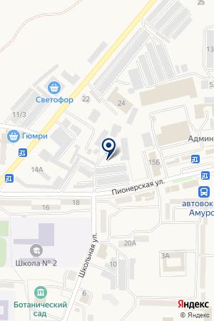 Автостоянка на карте Амурска