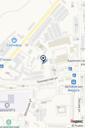 Автосервис на карте Амурска