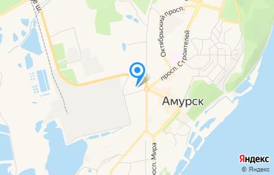 Местоположение на карте пункта техосмотра по адресу Хабаровский край, г Амурск, пр-кт Строителей, д 5