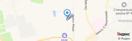 Грузовое автотранспортное предприятие на карте Амурска