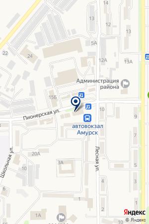 Кокетка на карте Амурска