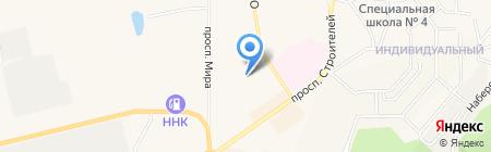 Каравай на карте Амурска