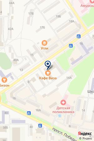 Виза на карте Амурска