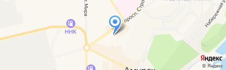 Ёлка на карте Амурска