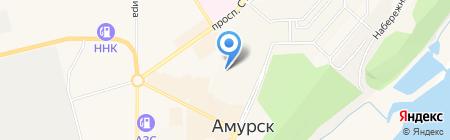 Средняя общеобразовательная школа №3 на карте Амурска