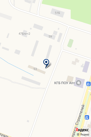 Автостоянка на проспекте Строителей на карте Амурска