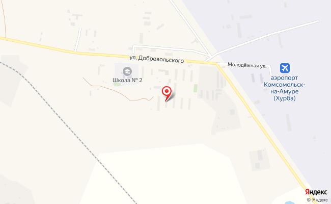 Карта расположения пункта доставки Хурба Добровольского в городе Хурба