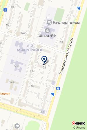 Микрорайон на карте Амурска