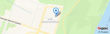 Средняя общеобразовательная школа №9 на карте Амурска