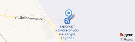 Комсомольский аэропорт на карте Хурбы
