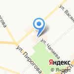 Магазин верхней одежды на карте Комсомольска-на-Амуре