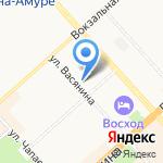 Энфорта на карте Комсомольска-на-Амуре