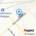 Шина-сан на карте Комсомольска-на-Амуре