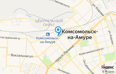 Местоположение на карте пункта техосмотра по адресу Хабаровский край, г Комсомольск-на-Амуре, ул Вокзальная, д 34 стр ж