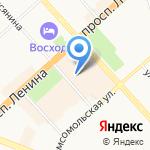 Эстель на карте Комсомольска-на-Амуре