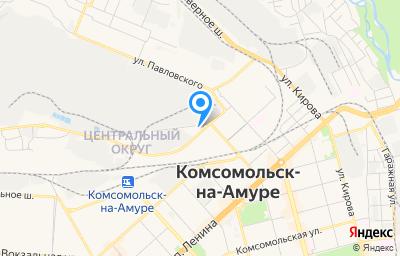 Местоположение на карте пункта техосмотра по адресу Хабаровский край, г Комсомольск-на-Амуре, ш Волочаевское, д 1