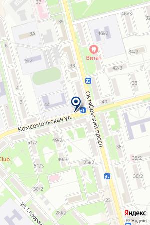 АПТЕКА № 108 ФАРМАЦИЯ на карте Комсомольска-на-Амуре